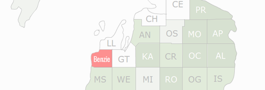 Benzie County Map