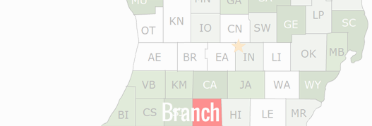 Branch County Map