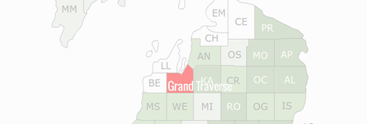 Grand Traverse County Map