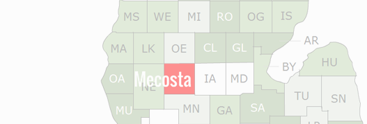 Mecosta County Map