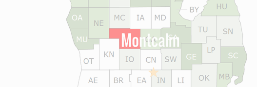 Montcalm County Map